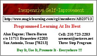 Inexpensive Self Improvement